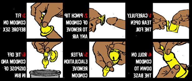 hur tar man på en kondom
